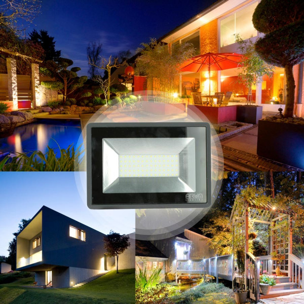 Projecteur LED ATRIA 100W NOIR IP65 extérieur