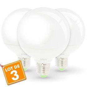Lot de 3 Ampoules Led 12W Eq 75W G95 E27 Globe