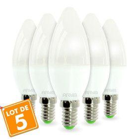 Lot de 5 Ampoules LED E14 6W Rendu 40W 420LM
