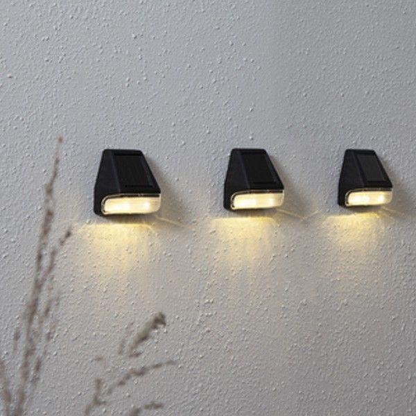 3 appliques solaire mini wally