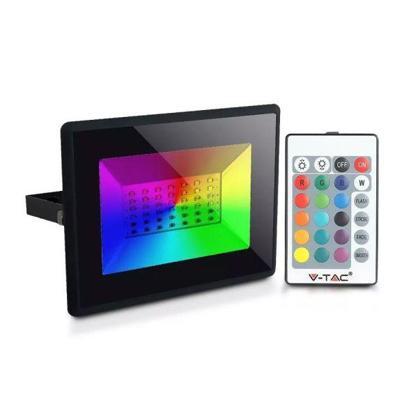 Projecteur LED 30W RGB avec télécommande
