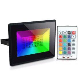 Projecteur LED 50W RGB avec télécommande