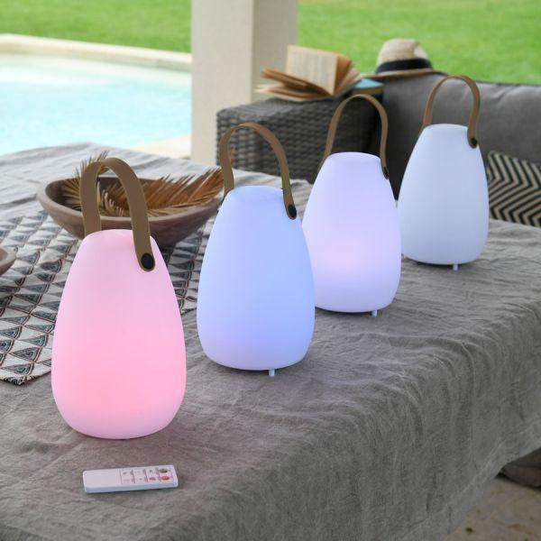 Lampe rechargeable couleur et haut parleur Bluetooth IP44
