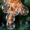 Guirlande solaire 2,7m de 10 ampoules LED Blanc Chaud