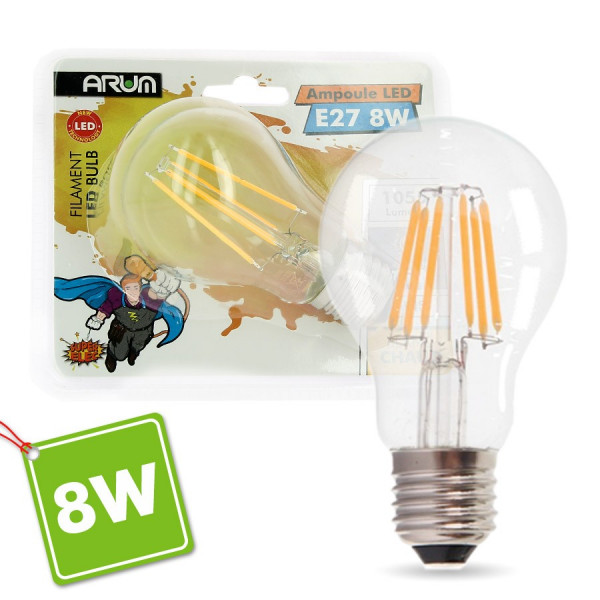 Ampoule LED E27 6W Filament Blanc chaud
