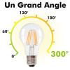 Bombilla LED E27 6W Filamento Blanco cálido