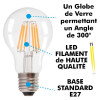 Ampoule LED E27 6W Filament Blanc chaud