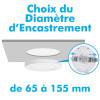 Plafonnier LED Saillie ajustable 12W CCT 3 Teintes