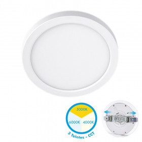 Plafonnier LED Saillie ajustable 24W CCT 3 Teintes