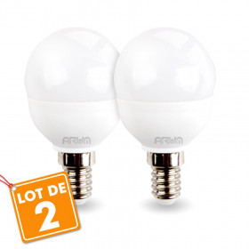 Lot de 2 Ampoules E14 P45 5,5W blanc naturel