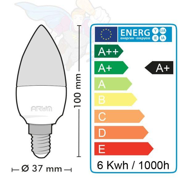 Lot de 2 ampoules LED E14 4000K C37