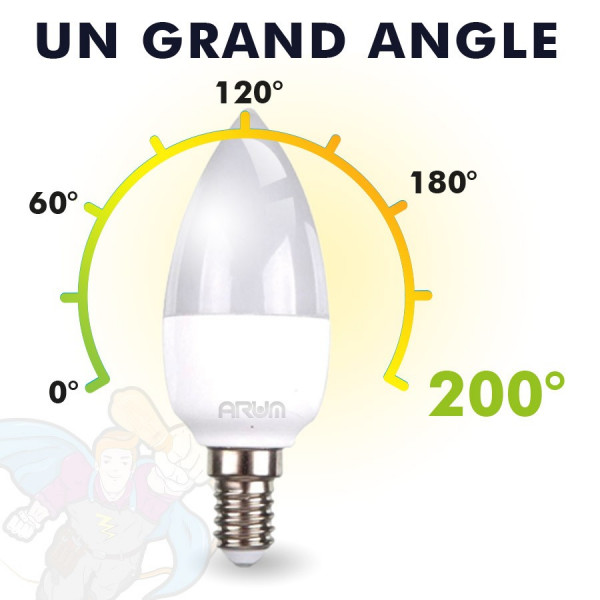 Ampoule LED E14 6W Blanc chaud