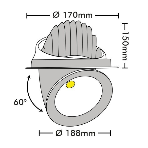 Spot Escargot orientable COB 35W