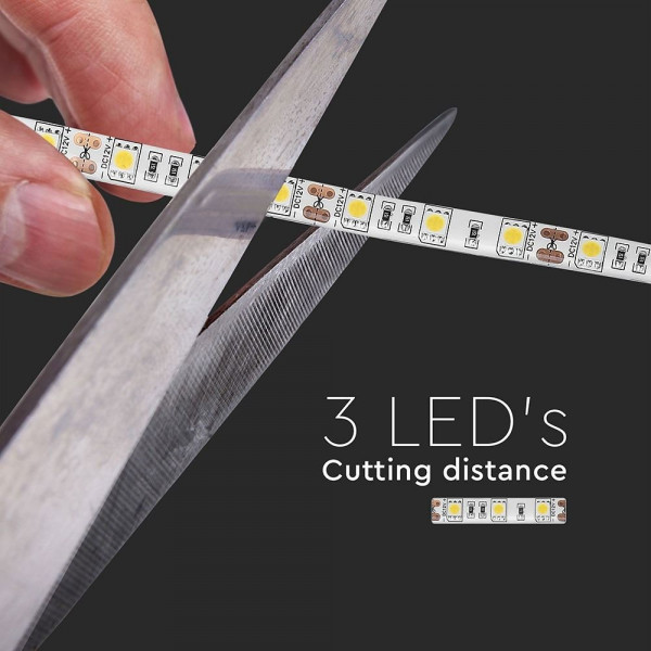 Rouleau de 5 mètres STRIP LED SMD 5050 Blanc chaud IP65