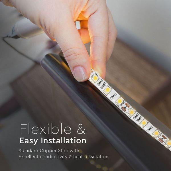 Rouleau de 5 mètres STRIP LED SMD 5050 Blanc chaud IP65