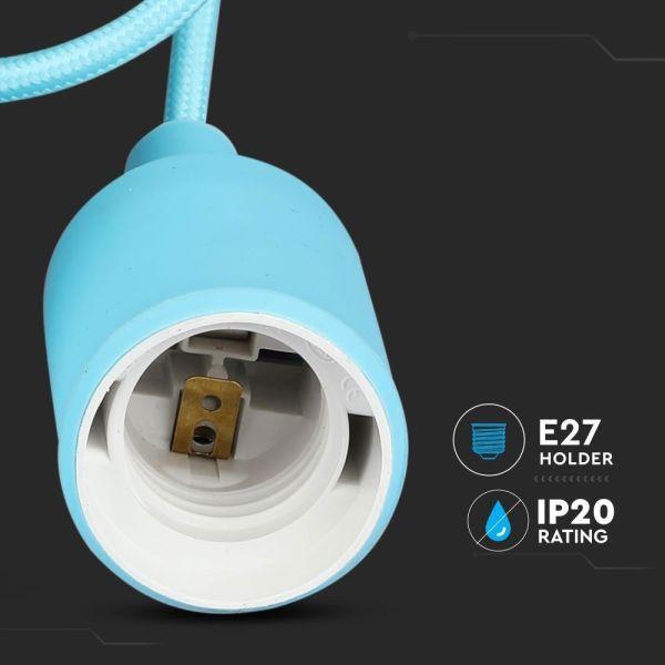 Suspension E27 Bleu