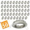 Lot de 50 supports encastrable orientable Acier Brossé D82