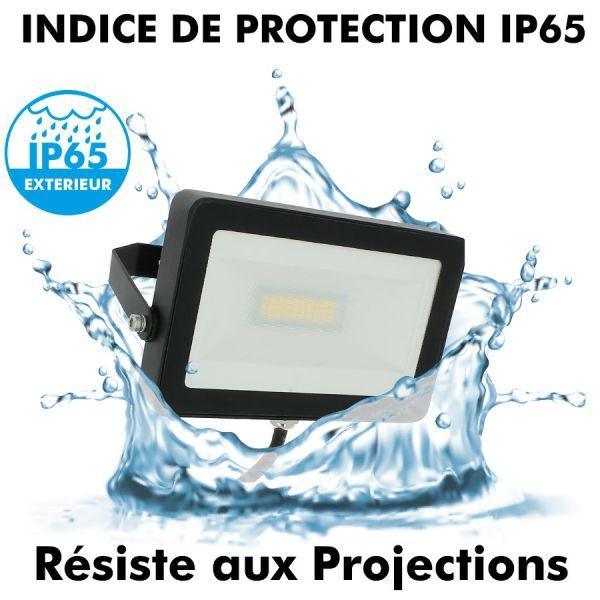 Projecteur LED 30W Noir Extérieur IP65