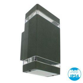 Applique LUIS Noir extérieur double faisceau GU10 IP44