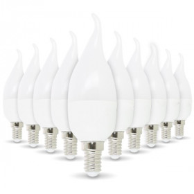 Lot de 10 Ampoule LED E14 Flamme 4W eq 30W