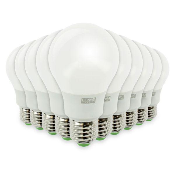 Lot de 10 Ampoules LED E27 7W eq 50W 490Lm