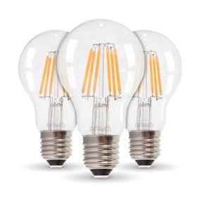 Lot de 3 Ampoules LED E27 4W Filament Equiv 40W