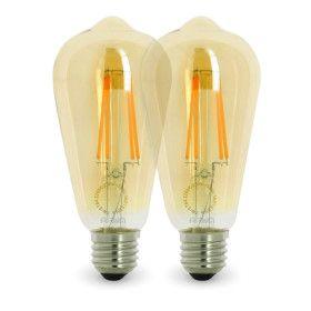 Lot de 2 Ampoules LED E27 4W ST64 2200K Type Edison