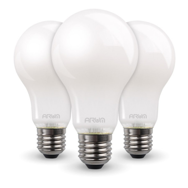 Lot de 3 Ampoules LED COG A60 7W MILKY