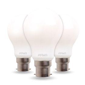 Lot de 3 Ampoules LED B22 COG A60 7W MILKY