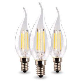 Lot de 3 Ampoules Led Flamme E14 4.5W filament