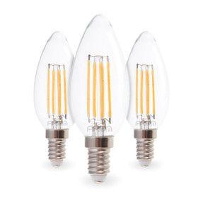 Lot de 3 Ampoules LED COG C37 4,5W Filament