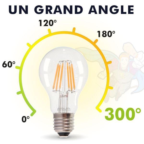 Lot de 3 Ampoules LED E27 11W 1521 Lumens Eq 100W