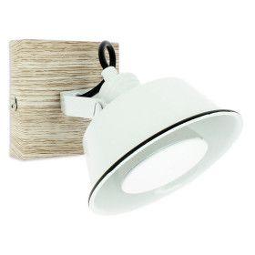 Applique Blanche Emailé avec Ampoule GU10 5W LED Blanc Chaud