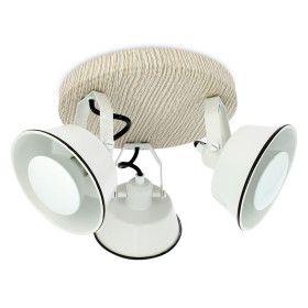 Plafonnier RIDLEY 3 Têtes Blanches avec Ampoule GU10 LED Blanc Chaud