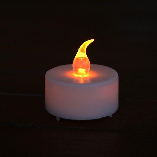 24 candele a led gialle con effetto fiamma