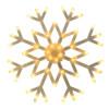 Flocon led lumineux Blanc Chaud animé 40cm extérieur