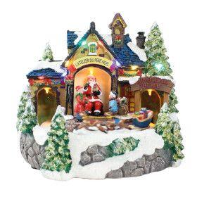 Village du Père Noël lumineux animés a piles