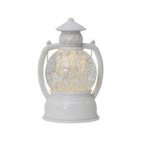 Décoration intérieure lanterne boule de neige blanche LED