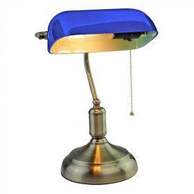 Lampe de Bureau banquier Vintage E27 Bleu