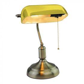 Lampe de Bureau banquier Vintage E27 Jaune