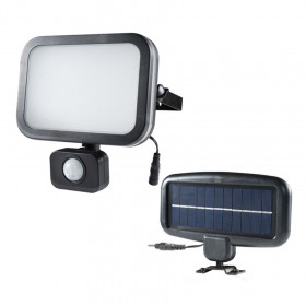 Projecteur solaire noir 8W LED 500 lumens