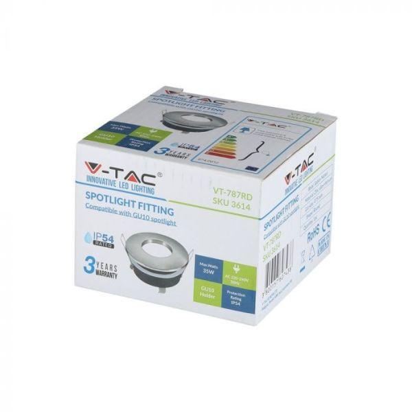 Support GU10 Satin Nickel IP54