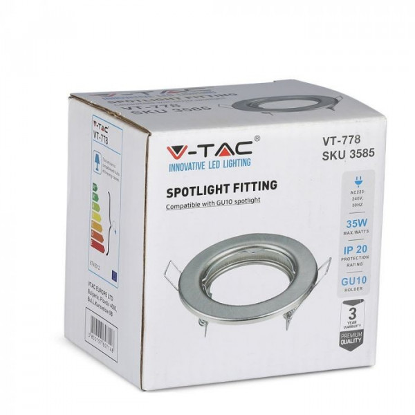 2 supports fixe GU10 Rond Satin