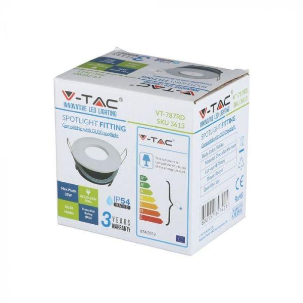 Support GU10 Blanc IP54