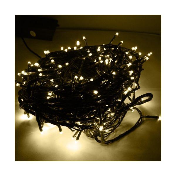 Ghirlanda sfarfallio 25m 288 LED bianchi caldi