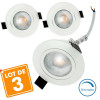 3 Spots Encastrables LED Orientable 5W Dimmable Eq. 40W