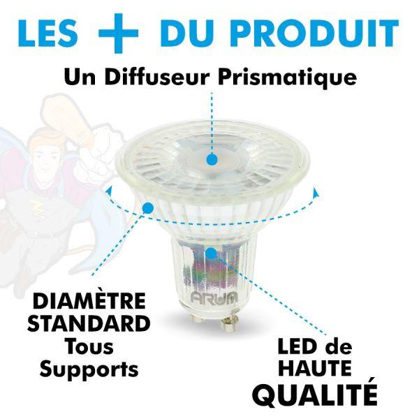 Ampoules GU10 5W PRO 420 Lm Equi. 45W