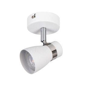 Applique 1 Spot GU10 ENALI EL-10W Blanc Mat Argent