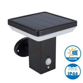 Applique Noire Solaire à Détection SOLCA L 500 Lumens