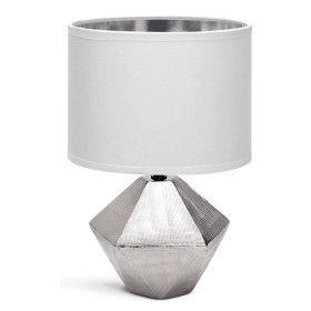 Lampe de Table a poser Ceramique Argenté E14 32 cm